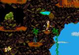 Wild Woody SEGA CD Woody up in mountainous heights facing some sort of green, muscular figure