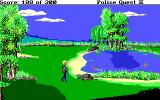 Police Quest 2: The Vengeance DOS Pond in park.