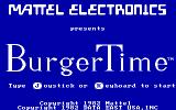 BurgerTime PC Booter Title Screen (CGA with RGB monitor)
