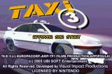Taxi 3 Game Boy Advance Title screen.