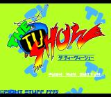 The TV Show TurboGrafx CD Title screen