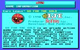 Carl Lewis' Go for the Gold  DOS Credits & game info