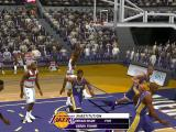 Courtside screenshot showing the basketballers aiming for a shot