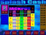 Splash Cash Windows The jackpot board.