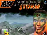 Action Man: Jungle Storm Windows This is the game's title screen. It comes after the video sequence and leads to the Action Man's secret base which doubles as a menu