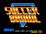 Soccer Brawl Neo Geo Title screen
