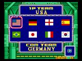 Soccer Brawl Neo Geo Choose your country.