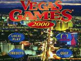 Vegas Games 2000 Windows The title screen and main menu