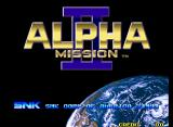 Alpha Mission II Neo Geo Title screen.