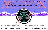 Arcticfox PC-98 Title screen