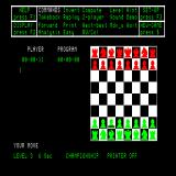 Psion Chess Sinclair QL 2D top-down perspective