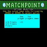 Tournament Tennis Sinclair QL Options screen