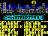 Ghostbusters II ZX Spectrum Title screen.