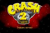 Crash Bandicoot 2: N-Tranced Game Boy Advance European title screen