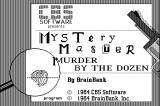 Mystery Master: Murder by the Dozen Macintosh Title screen
