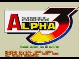 Street Fighter Alpha 3 PlayStation Title screen