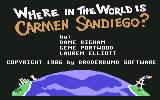 Where in the World is Carmen Sandiego? Commodore 64 Title