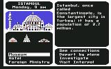 Where in the World is Carmen Sandiego? Commodore 64 Where do you want to investigate? The Museum, Hotel, or Foreign Ministry?