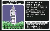 Where in the World is Carmen Sandiego? Commodore 64 London