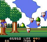 Magical Tarurūto-kun Game Gear Stage 3 takes place outside.