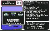 Where in the U.S.A. is Carmen Sandiego? Commodore 64 Where do you want to investigate? The university, Auto club, or Sports Arena?