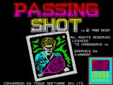 Passing Shot ZX Spectrum Loading screen.