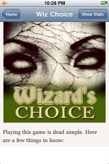 Wizard's Choice Volume 1 iPhone Title screen