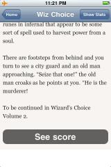 Wizard's Choice Volume 1 iPhone Ending on a cliffhanger, how original!