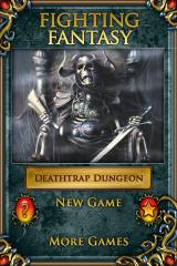 Fighting Fantasy: Deathtrap Dungeon iPhone Start menu