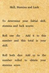 Fighting Fantasy: Deathtrap Dungeon iPhone Explaining the in-game statistics