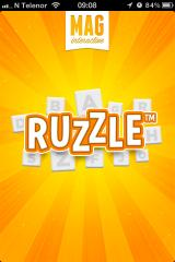 Ruzzle iPhone Loading screen, after name change
