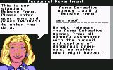Where in Time is Carmen Sandiego? Commodore 64 Name Entry