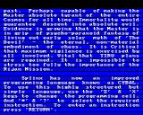 Doctor Who and the Mines of Terror BBC Micro Bottom part of the message describes the new language for Splinx