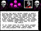 Spitting Image: The Computer Game ZX Spectrum The story.