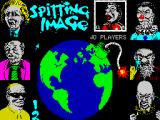 Spitting Image: The Computer Game ZX Spectrum Title screen.