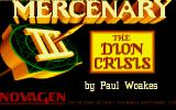 Mercenary III: The Dion Crisis Atari ST Title Screen.