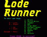 Lode Runner BBC Micro Controls to edit