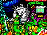 Teenage Mutant Ninja Turtles ZX Spectrum Loading screen.