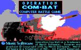 Operation Com●Bat DOS Title screen