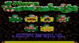 Xmas Lemmings DOS Title screen