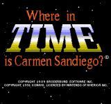 Where in Time is Carmen Sandiego? NES Title Screen