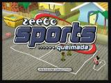 Boomerang Sports Queimada Zeebo Title screen.