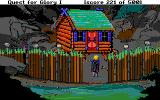 Hero's Quest: So You Want To Be A Hero DOS Baba Yaga's hut (outside, at night)