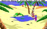 Quest for Glory II: Trial by Fire DOS Oasis at daytime