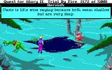 Quest for Glory II: Trial by Fire DOS Oasis at night