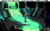 Quest for Glory II: Trial by Fire DOS Crossing the waterfall