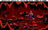 Quest for Glory II: Trial by Fire DOS Crossing a volcanic cave