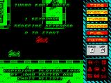 Turbo Kart Racer ZX Spectrum Title screen.