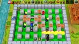 Bomberman PSP Defeated players appear at the border and may throw in the bombs