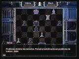 Ultimate Chess 3D Zeebo The challenge mode: here I have to solve a chess problem. This one demands a checkmate in two moves.